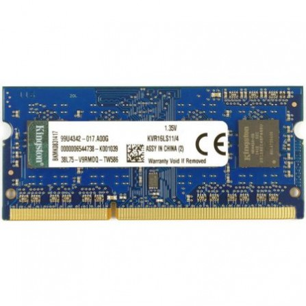 Memorie laptop Kingston 4GB DDR3L 1600Mhz CL11 KVR16LS11/4